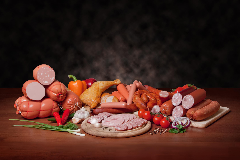 Аппетитная колбаса дизайн решения